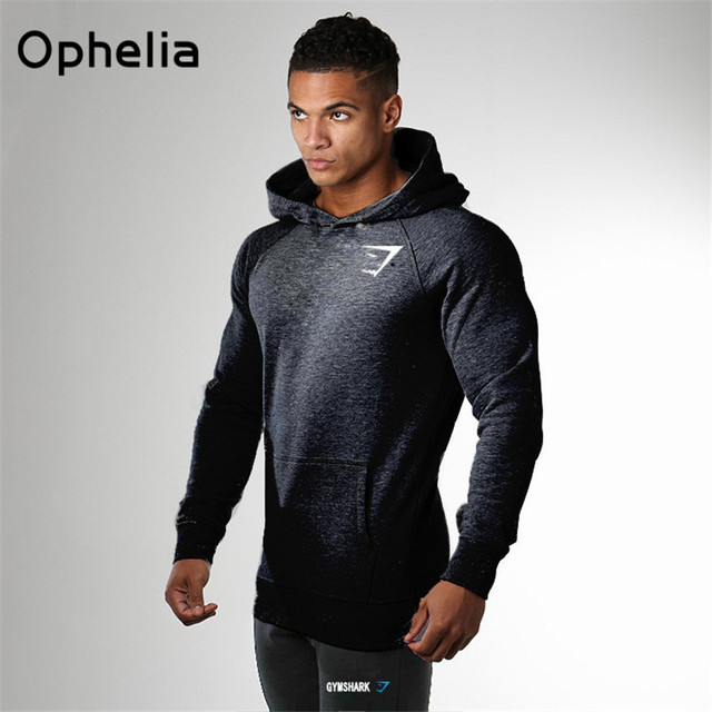 New 2016 Gymshark Excellent quality clothing Men's Hoodies Cotton pullover men sweatshirt Muscle Brothers man hoodies stretch