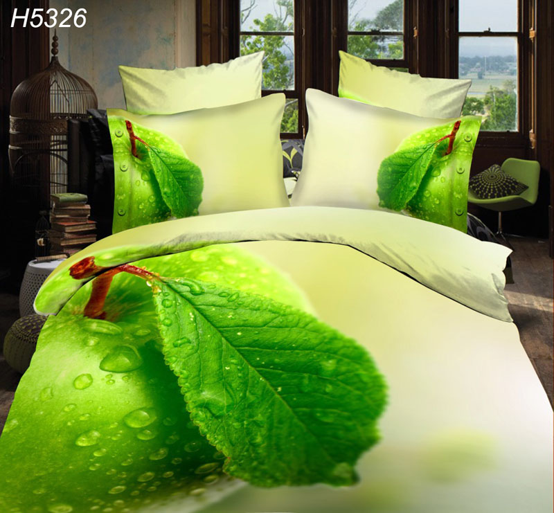 3d apple bedding set red apple in water 3d bed clothes HD digital printed  bed set 2015 new fashion promotion 3d bed covers 5322-in Bedding Sets from  Home ...