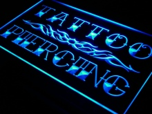 I559 Tattoo Piercing Miami Ink Shop LED Neon Light Sign On/Off 7 Colores