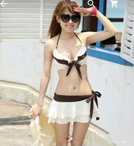 купальник с юбкой для плавания