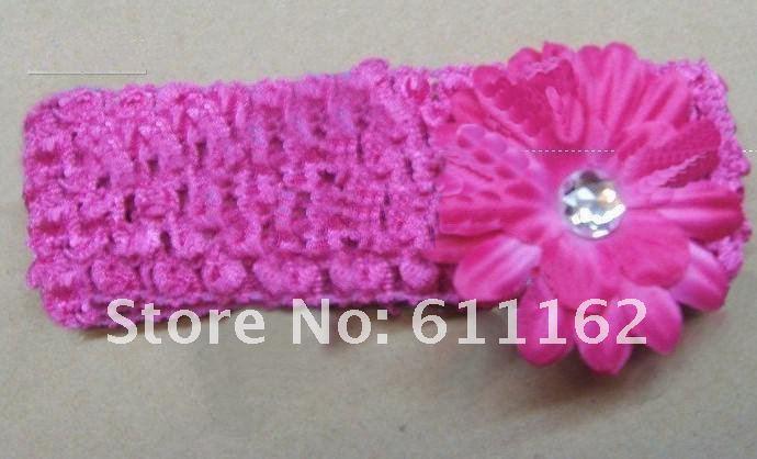 200 шт. 2 дюйма цветок заколки для волос Gerber цветок волос лук клип+ 1,5 дюйма крючком повязка gtrr dha6t45w6