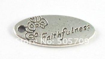 180 шт. тибетское серебро Цвет Овальный верность Шарм a15210