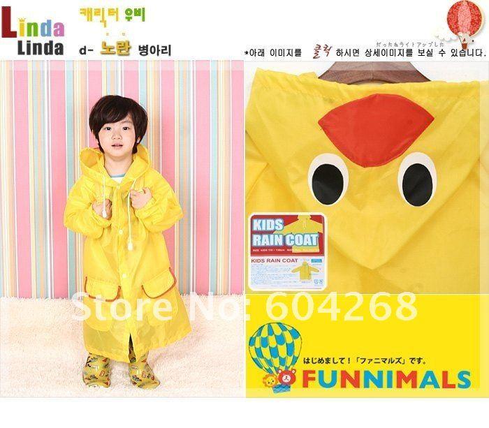 Детей дождевик детское пальто, непромокаемая одежда, непромокаемый костюм, дети Водонепроницаемый животных плащ 10 шт./лот