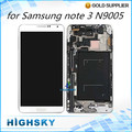 1 piece free shipping assembly replacement for samsung galaxy note 3 N9005 lcd display +touch digitizer with frame