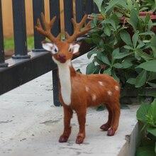 new mini artificial christmas standing reindeer