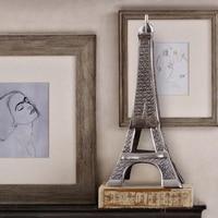 European village style retro hand made iron art Eiffel Tower nostalgic handicraft luxury home furnishing decor tower