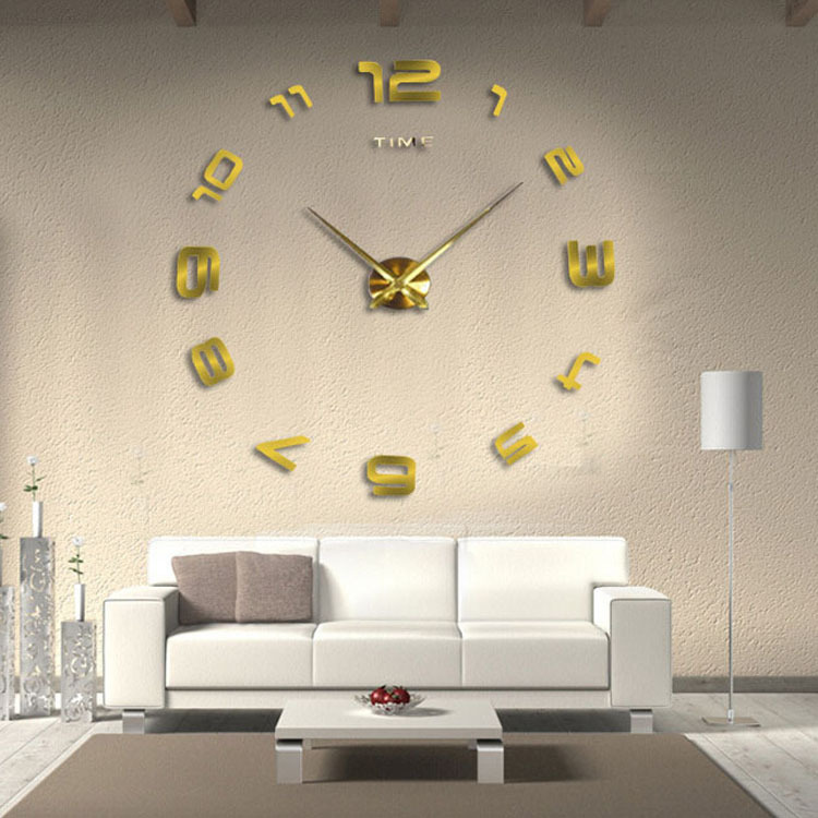 Aliexpress Buy New Arrival IKEA Style Fashion DIY Big Wall Clock With Personality For Living Room Decoration From Reliable Suppliers On
