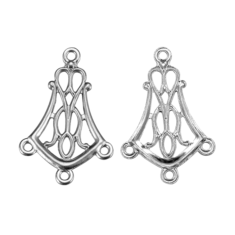 30PCs Stainless Steel Hollow Pattern Jewelry Findings