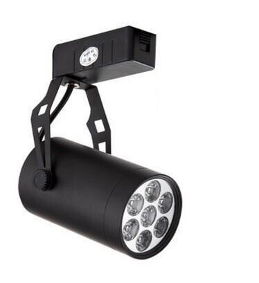 7 Вт Алюминий Светодиодный прожектор Энергосберегающая светодиодная лампа пятно света showroom поверхностного монтажа light rail ...