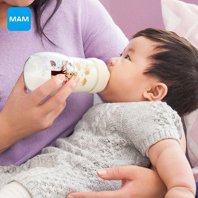 Mam se sentir bem dois embalagem de garrafa de vidro 170 ml + 260 ml garrafa de leite bebê recém-nascido alimentação da criança enfermeira criança Material frete grátis