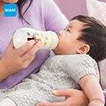 Mam sentirse bien dos botella cristal embalaje 170 ml + 260 ml botella de leche recién nacido alimentación infantil de la enfermera del niño Material de envío gratis