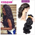 Peruvian 360 Virgin Hair 360 Lace Frontal With Bundles Body Wave 7A Peruvian Lace Band With Baby Hair Unprocessed Virgin Hair
