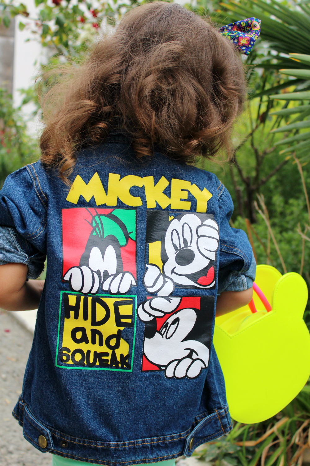 2016 New Spring Autumn Boys Girls Kids Cowboy Jacket Mickey Lovely Mouse Denim Top Button Costume Outfits Jean Coat Clothes