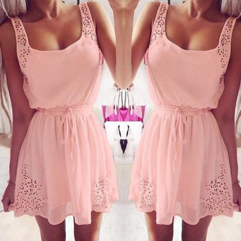 Hot Pink Short Casual Dress