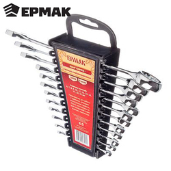 SET VAN SLEUTELS ERMAK 12 items (6-22mm) gereedschap moersleutel schroevendraaier jack wielen reparatie auto fiets korting 736-098