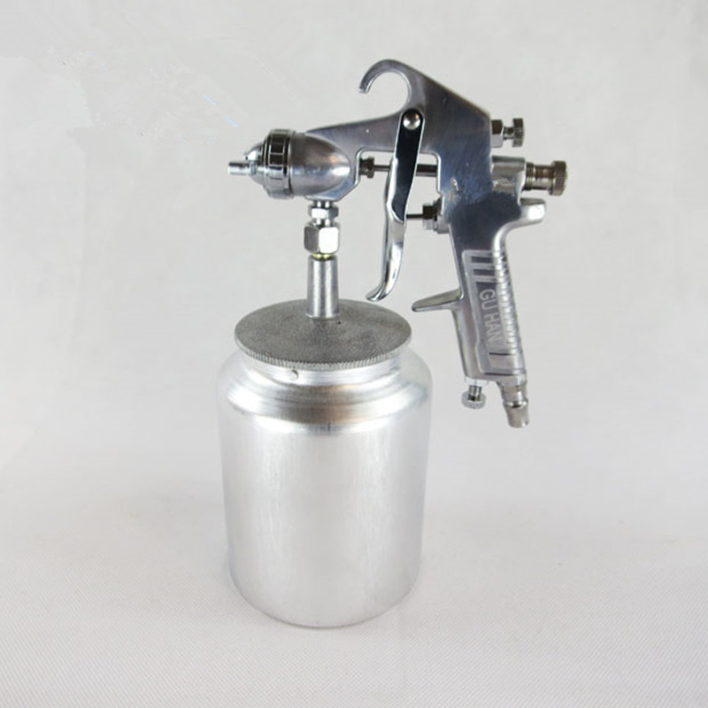 ФОТО Upper and Lower Pot Spray Gun Pneumatic Tools Automotive Paint Inkjet Special Airbrush Free Shipping