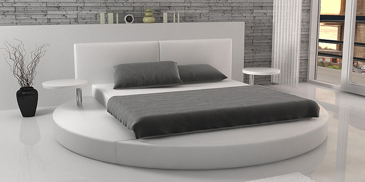 Rundes Bett Modern Bedroom King Size Round Bed On Sale 0414 R01-in