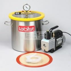 5,5 Gal (21 Liter) Vakuum kammer Kit mit 3 CFM (1.4L/s) 110 V Vakuumpumpe, 30 cm * 30 cm Edelstahl Vakuum Entgasung Kammer