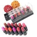12Colors/Set Mini Cute 12 Colors Lipstick Waterproof Lip Color 1.2gx12 High Quality Lips Makeup Brand HengFang