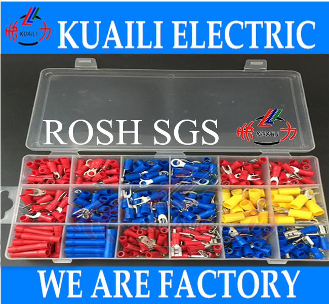 52 Assorted Insulated Crimp Terminals Electrical Wire Connector Spade Set connector terminals - KUAILI ELECTRICE store