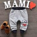 2016 Новая Коллекция Весна детские комбинезоны брюки 3 цвета младенца хлопка мальчик/девочка брюки