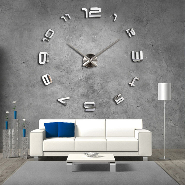 new arrival ikea style fashion diy big wall clock with personality for living room decoration in. Black Bedroom Furniture Sets. Home Design Ideas
