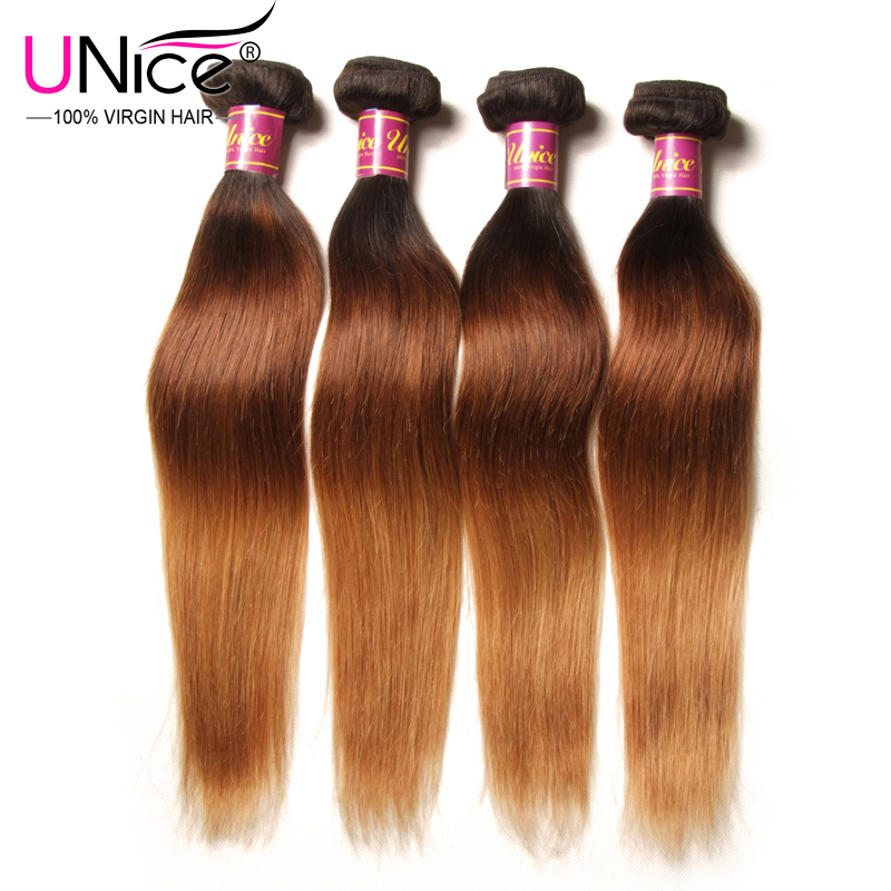 Aliexpress buy unice hair company ombre hair extensions 4pcs aliexpress buy unice hair company ombre hair extensions 4pcs peruvian virgin hair straight three tone ombre human hair weave free shipping from pmusecretfo Choice Image