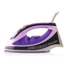 Паровой утюг Galaxy GL 6110 (мощность 2200 Вт, керамическая подошва, защита от накипи, функция самоочистки, в комплекте мерный стакан)
