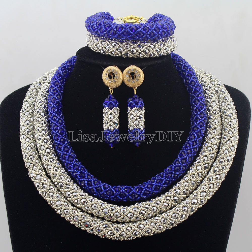 Nigerian Statement Necklace Wedding African Beads Jewelry Set Crystal Jewelry Set African Costume Jewelry Sets Beads HD7449Nigerian Statement Necklace Wedding African Beads Jewelry Set Crystal Jewelry Set African Costume Jewelry Sets Beads HD7449