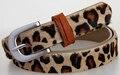 2016 el tardío para mujer vestido de leopardo cinturón primera capa de cuero genuino cinturones damas cinturón marrón 2 cm moda cinturón ancho accesorios
