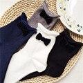 Princesa dulce lolita calcetines japoneses calcetines de pila con bowknot encantadora dama literaria borde de en calcetines de algodón puro DW59
