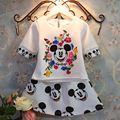 2 3 anos meninas verão minnie mouse conjunto crianças dos desenhos animados roupas 2 pcs camisa + saia de moda roupa dos miúdos S024