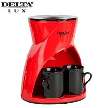 Кофеварка капельного типа DELTA DL-8131, объем 300мл, в комплекте 2 керамические чашки по 150мл, съемный моющийся фильтр, съемный моющийся держатель для фильтра, световой индикатор работы на кнопке.