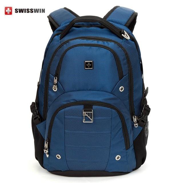 Swisswin venda quente 2016 marca de moda Mochila sw9217n saco de grande capacidade Mochila multi-bolso para o negócio computador Mochila