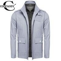 COOFANDY 남성 2017 코트 봄 캐주얼 재킷 긴 소매 솔리드 포켓 자켓 코트 착실히 보내다 카키, 라이트 블루 미국 크기 S/M/L/XL/XXL