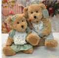 2016 new  26-33CM (24 colors) 2pcs/pair lovely mini couple teddy bear with cloth plush toy dolls girls birthday&christmas gift
