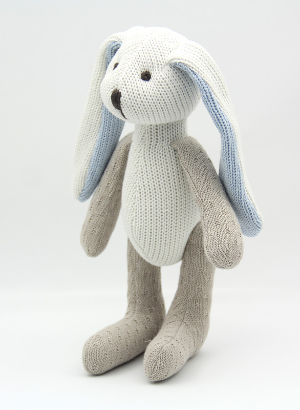22cm Cotton Rabbit Doll High Quality Toys for Children Knitting toys Free Shipping