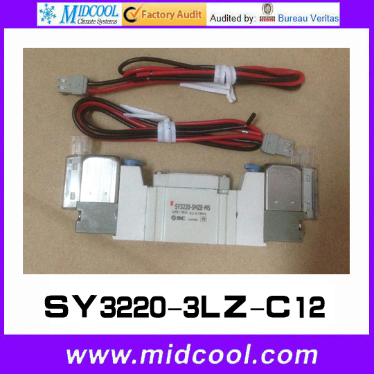 5 way pilot solenoid valve SY3220-3LZ-C12 5 way pilot solenoid valve sy3520 3lz c6