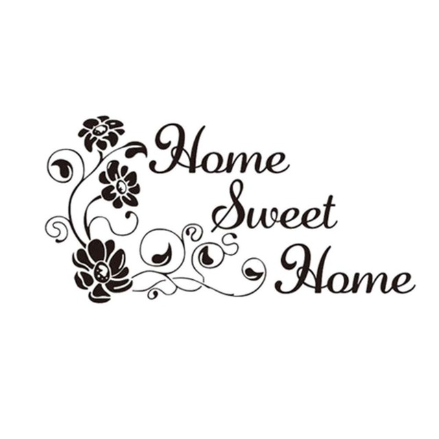 Art Characters Pattern Wall Sticker Home Sweet Home Diy