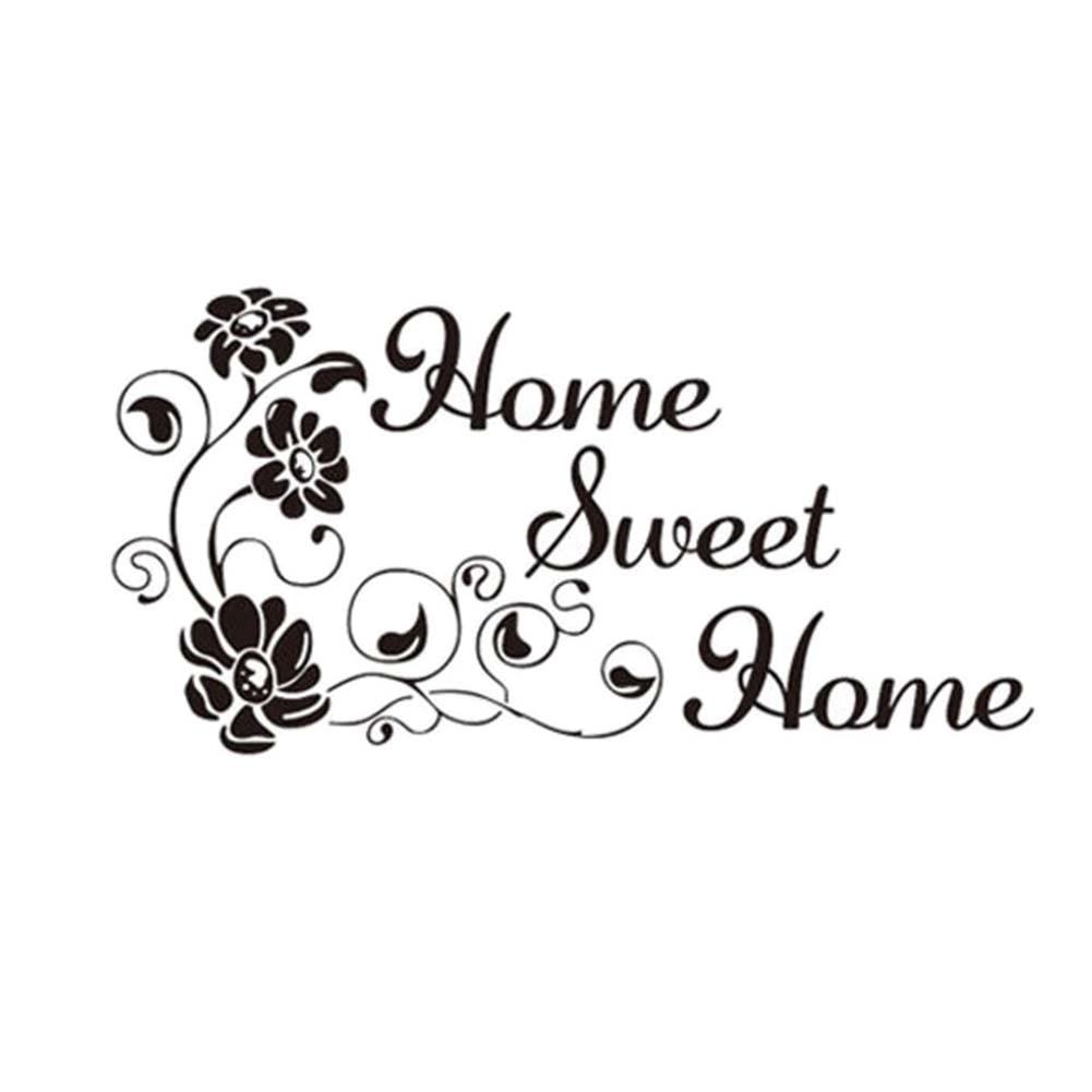Muursticker Home Sweet Home.Us 2 35 15 Off Art Characters Patroon Muursticker Home Sweet Home Diy Woondecoratie Originele Hoeveelheid Vinyl Decal Stickers In Wandstickers Van