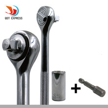 Universal Drehmoment Wrench Set Kopf Schlüssel Hülse Buchse 7-19mm Ratsche Spanner Power Bohrer Kits Magische Grip Buchse hand Werkzeuge