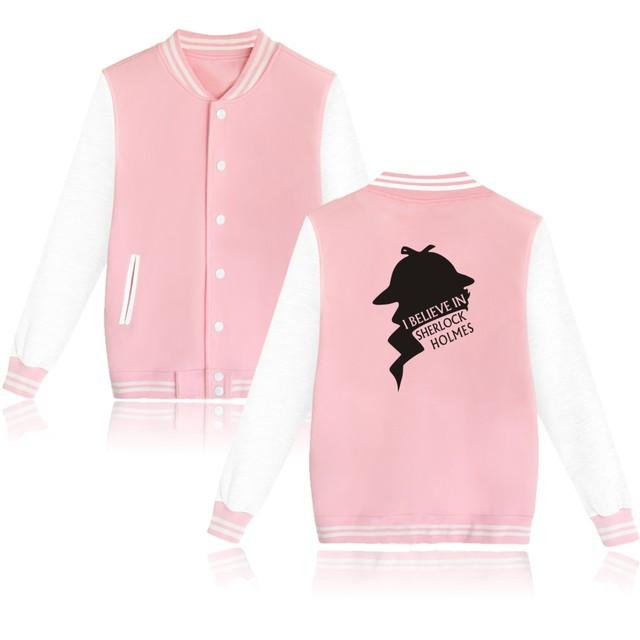 Sherklock Baseball Sweatshirts men Buttons Hoodies And Sher Locked Holmes Hoodies Womens Brand-clothing Sweatshirt Plus Size
