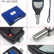 HT-6510OO цифровой ЖК Твердость по Шору метр OO дюрометр clerometer R 1,2 Сферический радиус для силиконовой сотовой резины