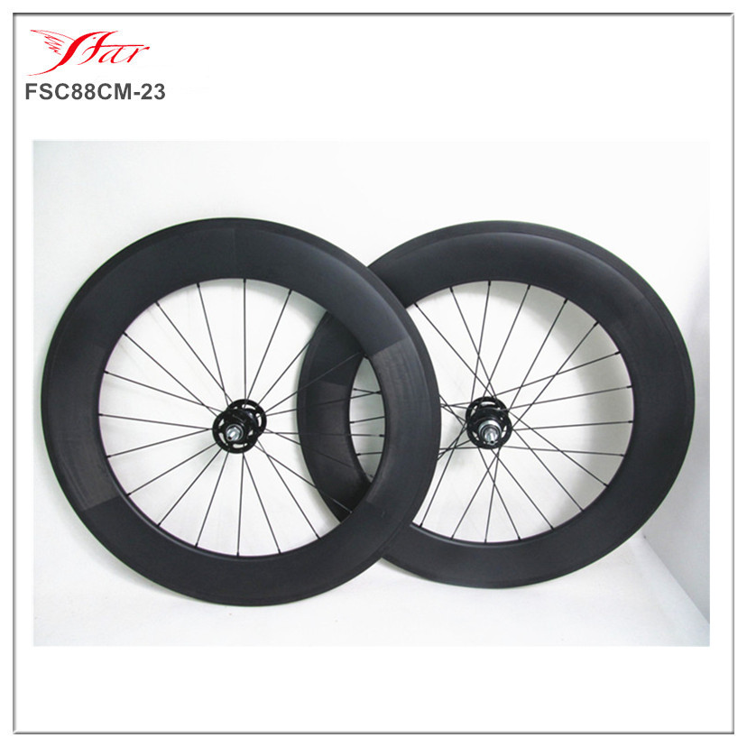 U shape 88mm deep 23mm wide carbon track wheels clincher single speed with Novatec track hubs Pillar spokes 2017 far sports carbon wheels 50mm clincher 23mm wide with novatec hub and sapim spokes novatec carbon wheels fsc50cm 23 700c