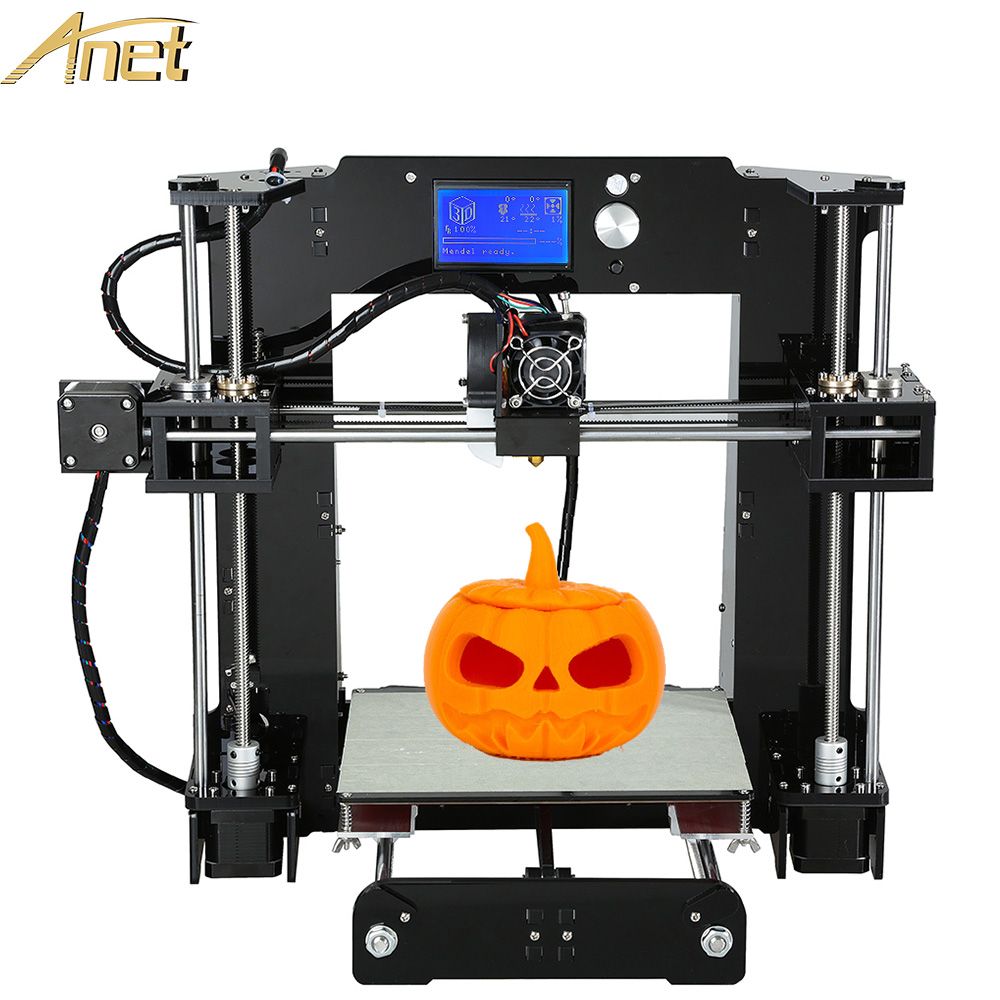 Anet A6 Normal/Auto A6 3d printer High precision Reprap Prusai3 3D Printer Kit DIY Impresora 3d LCD 12864/2004 with 10M Filament недорго, оригинальная цена