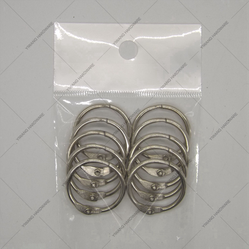 Manufacturer Direct Good Quality Aliexpress Hot Products Office Binder Ring 10pcs/package Nickel Plating Calendar Circle O Ring