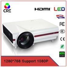 HD de Cine En Casa LCD LED Proyector 3500 lúmenes 1280*768 pixel 720 p HDMI/ATV/AV/VGA/S terminal/USB/entrada de audio Blanco