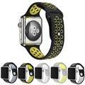 2016 correas de reloj flexible transpirable deportes de silicona para apple watch series 42mm 38mm correa de reloj de goma banda para iwatch pg202