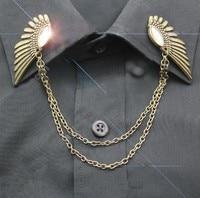 панк ретро крыло ангела branze ветер стоит рубашки братан галстук в-0016