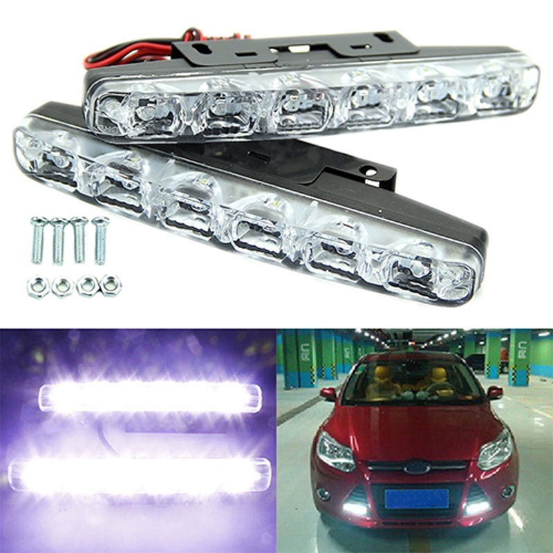 NEW arrival 2xpiece/lot  High Quality 6 LED Daytime Driving Running Light DRL Car Fog Lamp Waterproof White 12DC newest universal 2pcs high quality 6 led daytime driving running light drl car fog lamp waterproof white dc 12v hot selling